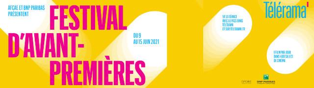 Festival Avant-Premières Télérama 2021 - Du 9 au 15 juin