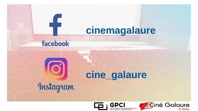 Le Ciné Galaure sur Facebook & Instagram !