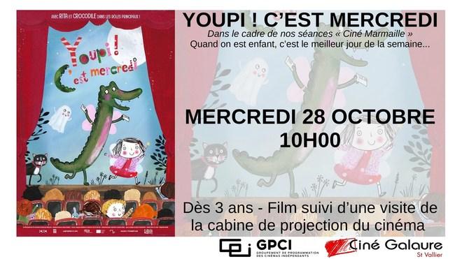 Ciné Marmaille - YOUPI ! C'EST MERCREDI - MERCREDI 28 OCTOBRE - 10H00