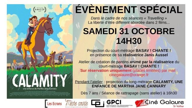 Évènement - CHANTE ! BASAV ! (EN PRÉSENCE DE SA RÉALISATRICE) + CALAMITY, UNE ENFANCE DE MARTHA JANE CANNARY - SAMEDI 31 OCTOBRE - 14H30