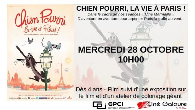 Ciné Marmaille - CHIEN POURRI, LA VIE À PARIS ! - MERCREDI 28 OCTOBRE - 10H00
