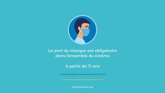 Consignes COVID19 - Port du masque dans le Cinéma