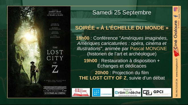 THE LOST CITY OF Z - 25/09/2021 - 20h00