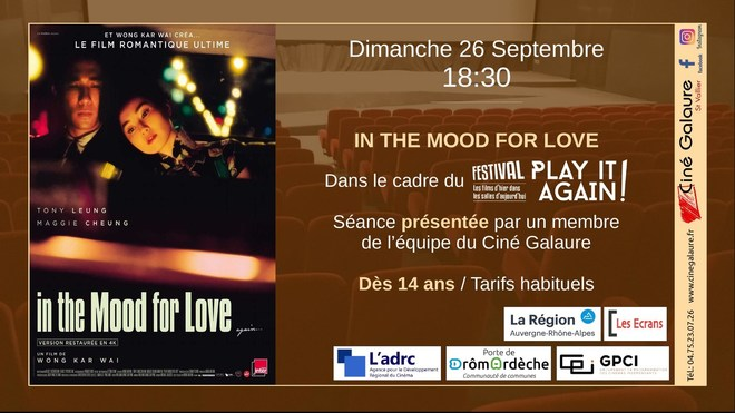 IN THE MOOD FOR LOVE - 26/09/2021 - 18H30