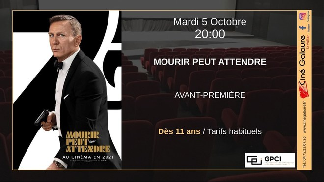 MOURIR PEUT ATTENDRE - 05/10/2021 - 20h00
