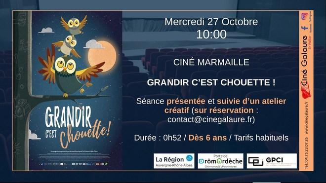 Ciné Marmaille - GRANDIR C'EST CHOUETTE ! - 27/10/2021 - 10h00
