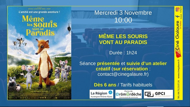 Ciné Marmaille - MÊME LES SOURIS VONT AU PARADIS - 03/11/2021 - 10h00