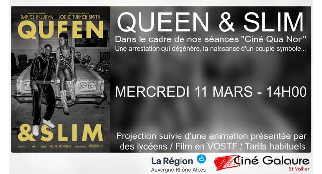 "Séance ""Ciné Qua Non"" - QUEEN & SLIM - MERCREDI 11 MARS - 14H00"