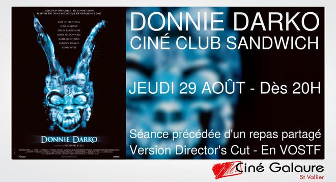 Ciné Club Sandwich - DONNIE DARKO (Version Director's Cut - En VOSTF) - Jeudi 29 août - Dès 20h00