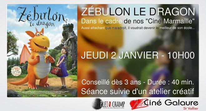 Ciné Marmaille - ZÉBULON LE DRAGON - JEUDI 2 JANVIER - 10H00