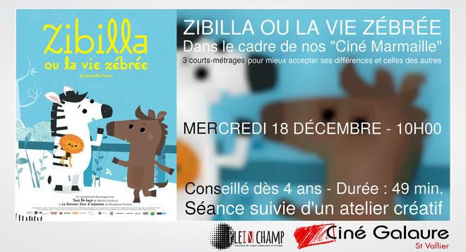 Ciné Marmaille - ZIBILLA OU LA VIE ZÉBRÉE - MERCREDI 18 DÉCEMBRE - 10H00